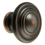 Amerock BP15862ORB Inspirations Oversized 1-3/4 Inch 3 Ring Cabinet Knob Oil Rubbed Bronze