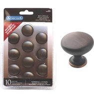 Amerock TEN53005ORB Allison Value Hardware Cabinet Knob 1-1/4 Inch Oil Rubbed Bronze Pack Of 10