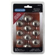 Amerock TEN53018G10 Allison Value Hardware Oval Cabinet Knob 1-3/8 By 1 Inch Satin Nickel 10 Pack