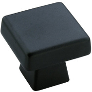 Amerock BP55271BBR Blackrock Cabinet Knob 1-3/16 Inch Square By 1-1/16 Inch Projection Black Bronze