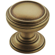Amerock BP55342GB Revitalize Classic Round 1-1/4 Inch Cabinet Knob In A Gilded Bronze Finish