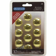 Amerock 1875405 Knob 1-1/4In Polished Brass 10 Pack