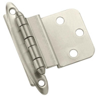 Amerock BPR3417G10 Modern Non Self-Closing Face Mount 3/8 Inch Steel Inset Hinge Satin Nickel 10 Pack