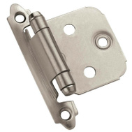 Amerock BPR3429G10 Inspirations Self-Closing Face Mount Steel Variable Overlay Hinge Satin Nickel 10 Pack
