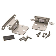 Amerock BPR3429G10 Variable Overlay Cabinet Hinge Pair In Satin Nickel
