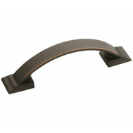 Amerock BP29349ORB Candler Collection Arched 3 Inch Center To Center Drawer Pull With An Oil Rubbed Bronze Finish