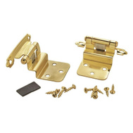 Amerock BP34283 Inspirations Self Closing Face Frame Mount 3/8 Offset Hinges Polished Brass