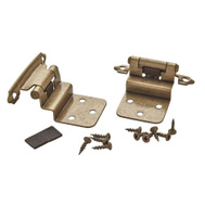 Amerock BP3428BB Cabinet Hinge 3/8 Inch Inset In Burnished Brass