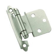 Amerock BPR3428G10 Inspirations 3/8 Inset Satin Nickel Self-Closing Cabinet Hinges