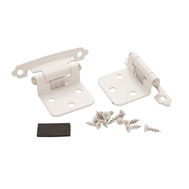 Amerock BP7139W Modern Variable Overlay Face Frame Mount Self Closing Cabinet Hinge White