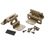 Amerock BPR7565BB Cabinet Hinges 3/8 Inch Inset In Burnished Brass