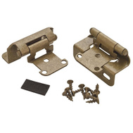 Amerock BPR7550BB Adjustable 1/2 Inch Overlay Partial Wrap Self Closing Hinges Burnished Brass