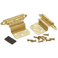 Amerock BPR34173 Cabinet Hinge 3/8 Inch Inset In Polished Brass