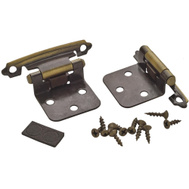 Amerock BPR3429AE Imperia Variable Overlay Face Frame Mount Self Closing Cabinet Hinges Antique Brass