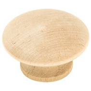Amerock 10PK813WD Unfinished Wood Cabinet Knobs 1-1/2 Inch 10 Pack