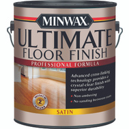 Minwax 13103 Crystal Clear Satin Ultimate Floor Finish Gallon Water Based