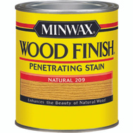 Minwax 22090 Natural Wood Finish Penetrating Stain 1/2 Pint Oil Based