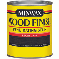Minwax 22718 Ebony Wood Finish Penetrating Stain 1/2 Pint Oil Based