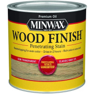 Minwax 22761 Classic Gray Wood Finish Penetrating Stain 1/2 Pint Oil Based