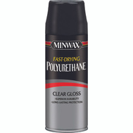 Minwax 33050 Clear Gloss Fast Drying Polyurethane Aerosol