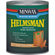 Minwax 63051 Helmsman Clear Semi Gloss Spar Urethane Quart Water Based