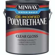 Minwax 71031 Clear Gloss Polyurethane Gallon Water Based Oil Modified