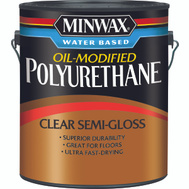Minwax 71032 Clear Semi Gloss Polyurethane Gallon Water Based Oil Modified
