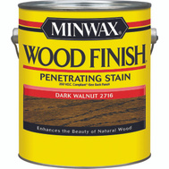 Minwax 71081 Dark Walnut Wood Finish 250 VOC Compliant Penetrating Stain Gallon Oil Based