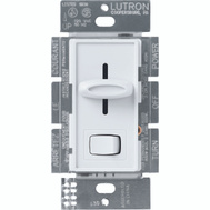 Lutron S-600PH-WH Skylark White 1 Pole Preset Slide Dimmer