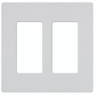 Lutron CW-2-WH Claro White 2-Gang Wall Plate
