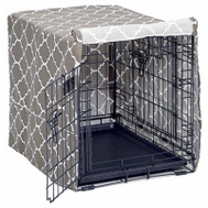Midwest Pets CVR24T-BR 24 Inch BRN Geo Crate Cover
