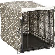 Midwest Pets CVR30T-BR 30 Inch BRN Geo Crate Cover