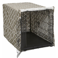 Midwest Pets CVR36T-BR 36 Inch BRN Geo Crate Cover