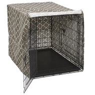 Midwest Pets CVR42T-BR 42 Inch BRN Geo Crate Cover
