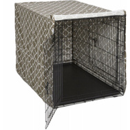 Midwest Pets CVR48T-BR 48 Inch BRN Geo Crate Cover