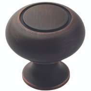 Amerock TEN1875415 Allison Value Hardware Cabinet Knob 1-1/4 Inch Oil Rubbed Bronze 10 Pack