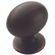 Amerock TEN1875422 Allison Value Hardware Cabinet Knob 1-3/8 Inch By 1 Inch Oval Oil Rubbed Bronze 10 Pack