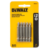DeWalt DW2115 2 Inch #2 Phillips Insert Bit Pack Of 5