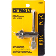 DeWalt DW2304 1/4 Inch Pilot Chuck Key For 3/8 Inch To 1/2 Inch Chucks