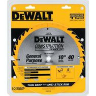 DeWalt DW3114 Blade Saw Jobsite 40T 10In