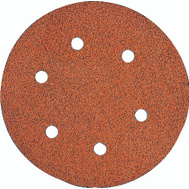 DeWalt DW4331 6 Inch 6 Hole Hook And Loop Aluminum Oxide Sanding Discs 80 Grit Coarse 5 Pack