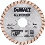 DeWalt DW4724B 4 Inch High Performance Diamond Masonry Blades