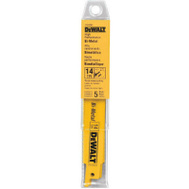 DeWalt DW4808 6 Inch Reciprocating Saw Blade Pack Of 5