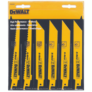 DeWalt DW4856 Reciprocating Saw Blade 6 Piece Set