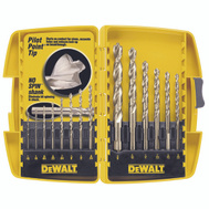 DeWalt DW1169 14 Piece High Speed Pilot Drill Bit Set