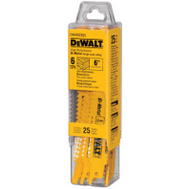 DeWalt DW4808B25 6 Inch Bi Metal Reciprocating Saw Blade