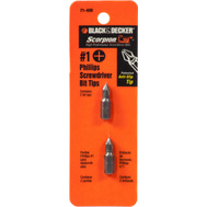 Black & Decker 71-408 Scorpion #1 Phillips Screwdriver Bit Tips 2 Pack