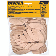 DeWalt DW6820 #20 Plate Joiner Biscuit Pack Of 75