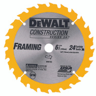 DeWalt DW9154 6-1/2 Inch Carbide Blade 24 Tooth