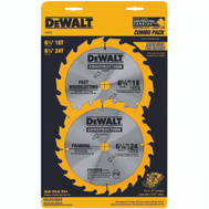 DeWalt DW9158 6-1/2 Inch Combo Blade Pack 16/24 Tooth